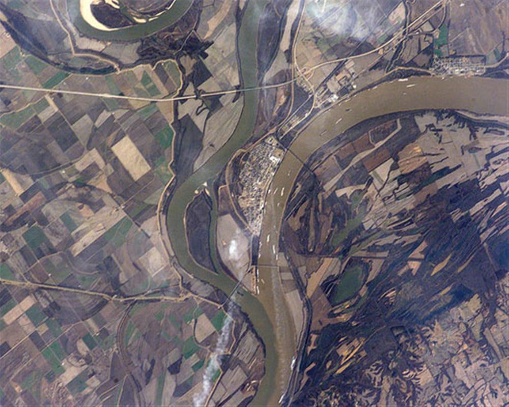 Sông Ohio và sông Missisippi, bang Illinois, Mỹ